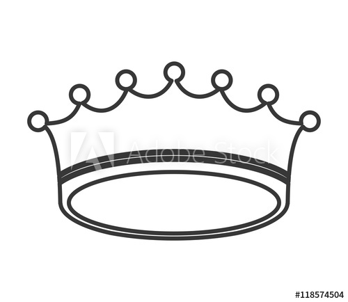 500x434 Crown Royal King Silhouette Icon Flat And Isolated Illustration