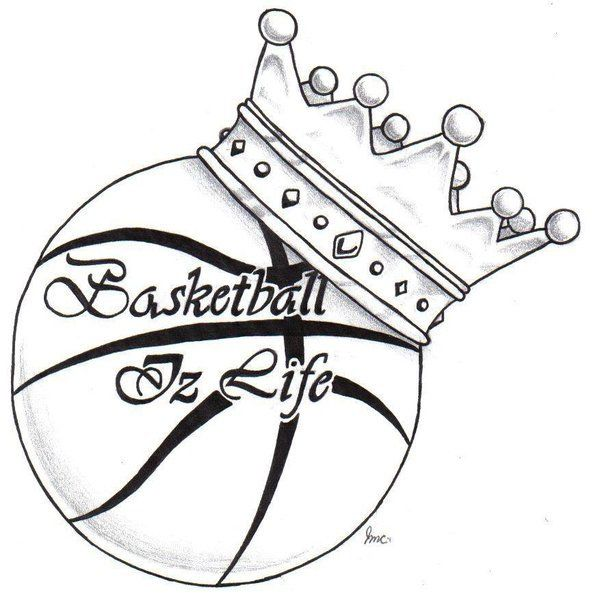 600x603 Basketball With A Crown Tattoo