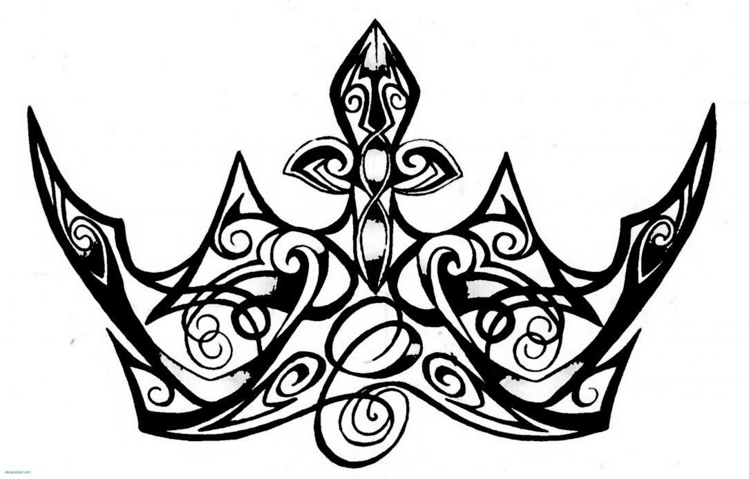 1084x694 Crown Drawing Tutorial Tattoo Queen Easy Designs Of Thorns I