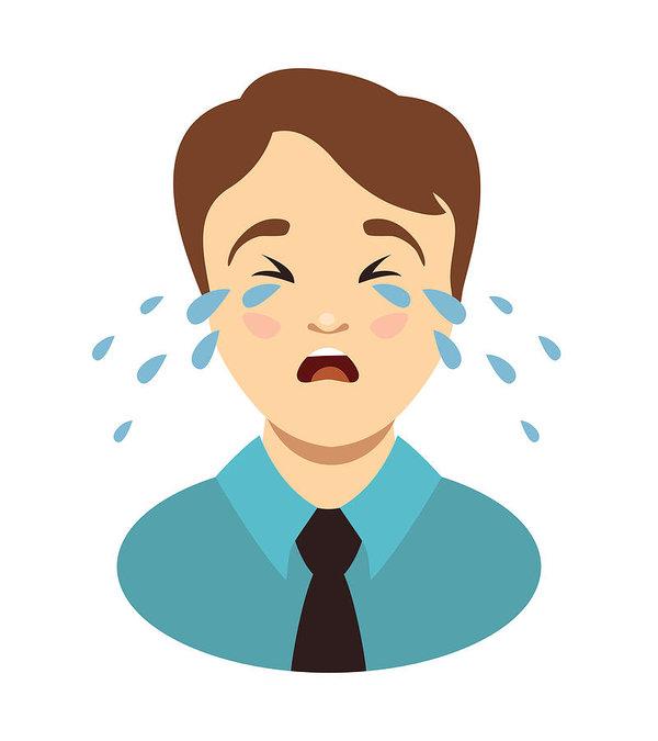 600x675 Man Cries Weeping Boy Head Art Print