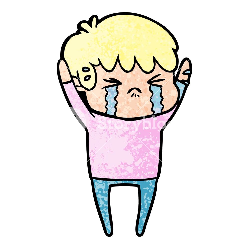 1000x1000 Cartoon Boy Crying Royalty Free Stock Image