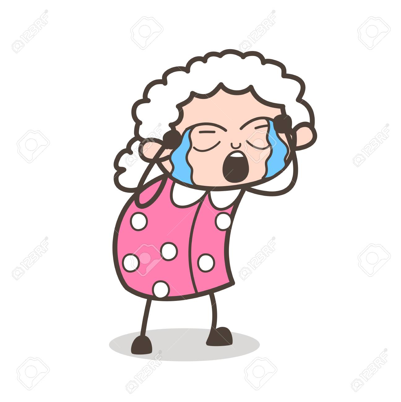 Crying Lady Drawing | Free download best Crying Lady ...