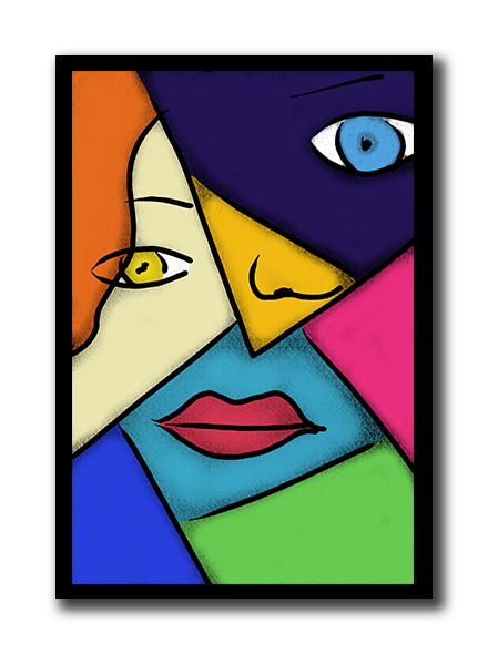 440x590 pop art cubism poster diy home decor cubism art, pop art, cubism