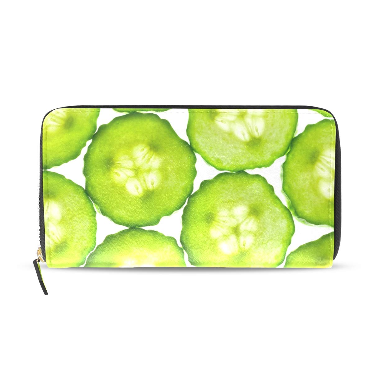 1200x1200 cucumbers slice in skincare genuine leather wallet case credit