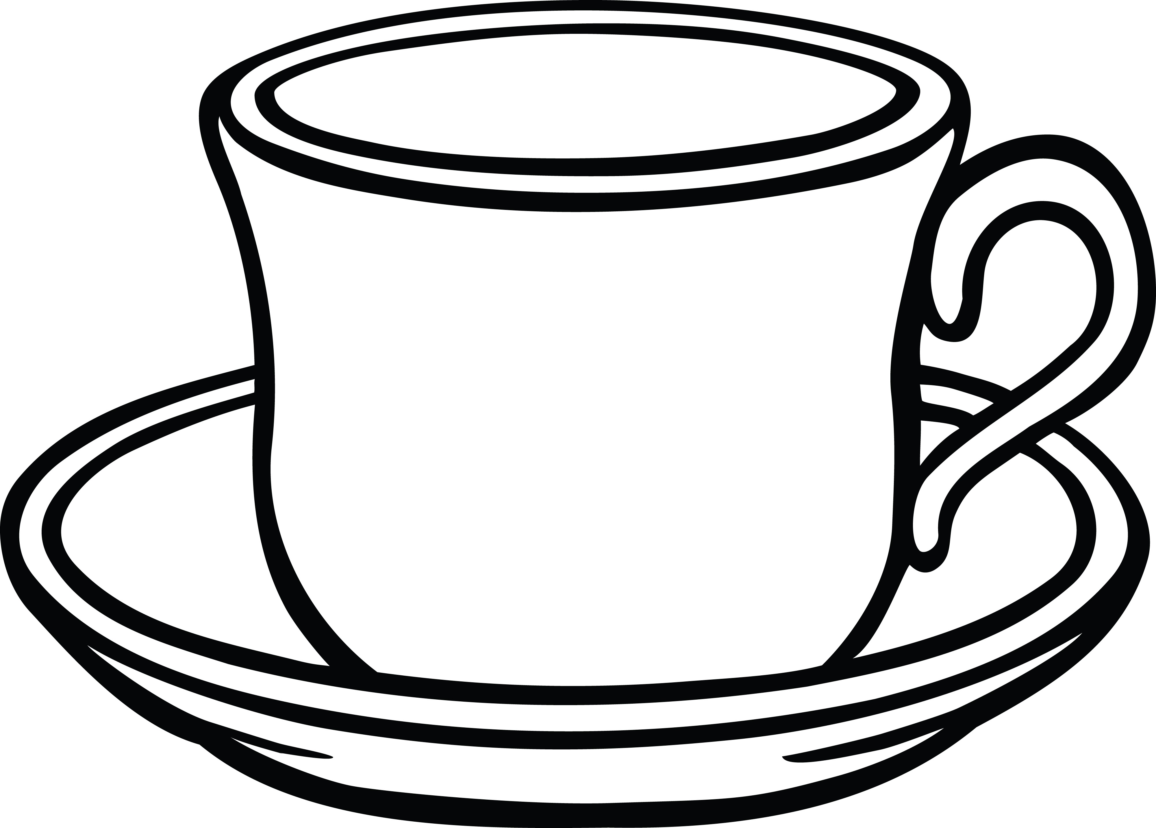 4000x2864 free clipart of a cup coffee and saucer