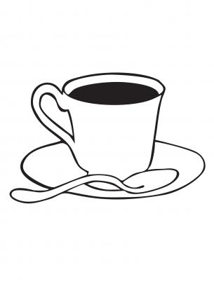 305x408 tea cup coloring sheets applique tea cups, tea cup drawing