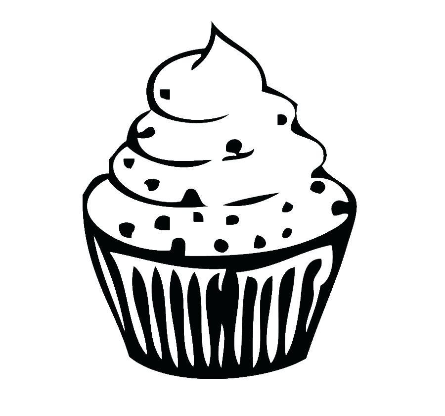900x840 cupcake outline cupcake outline how to draw a cupcake step