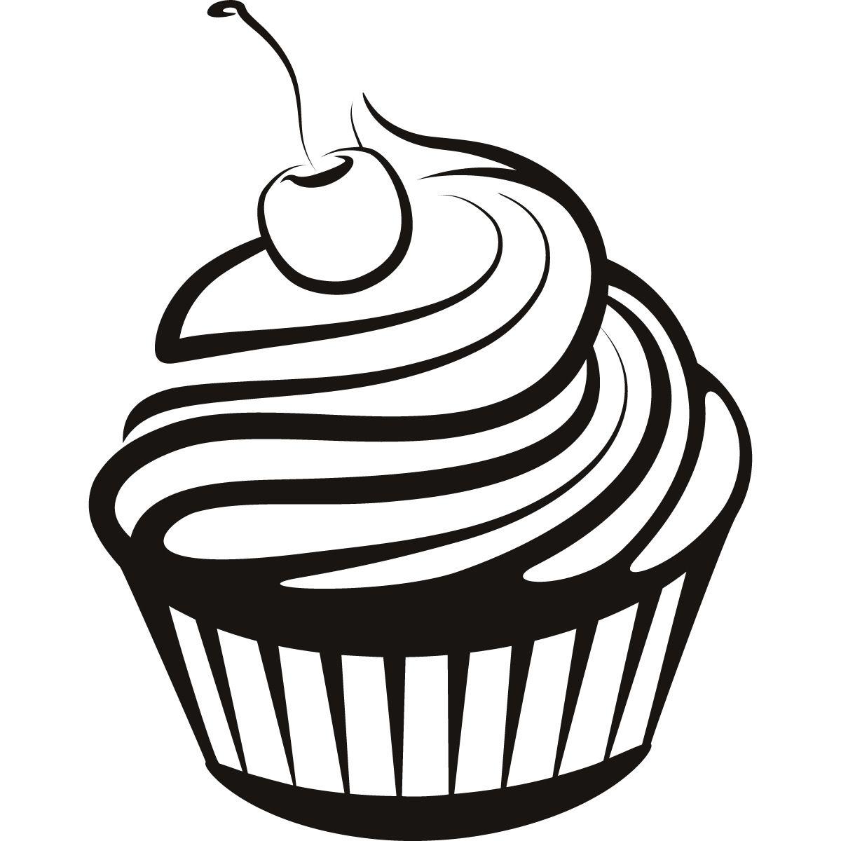 1200x1200 black and white cupcake drawing simple cupcake drawings cupcake