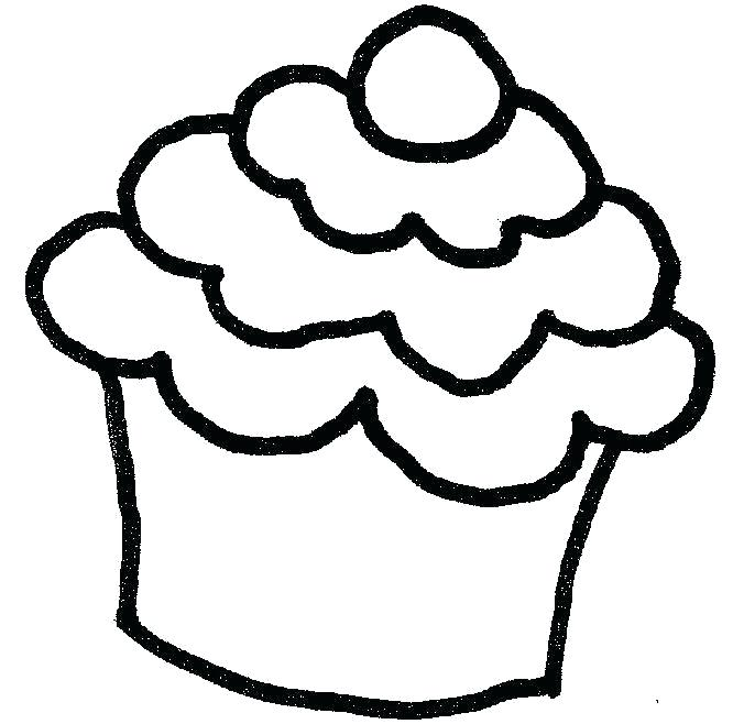 666x658 how to draw cupcake drawing cupcake library draw cupcake pictures