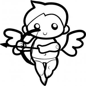 302x301 How To Draw Cupid For Kids, Step