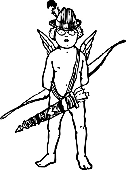 438x593 Tyrol Cupid Clip Art Free Vector In Open Office Drawing