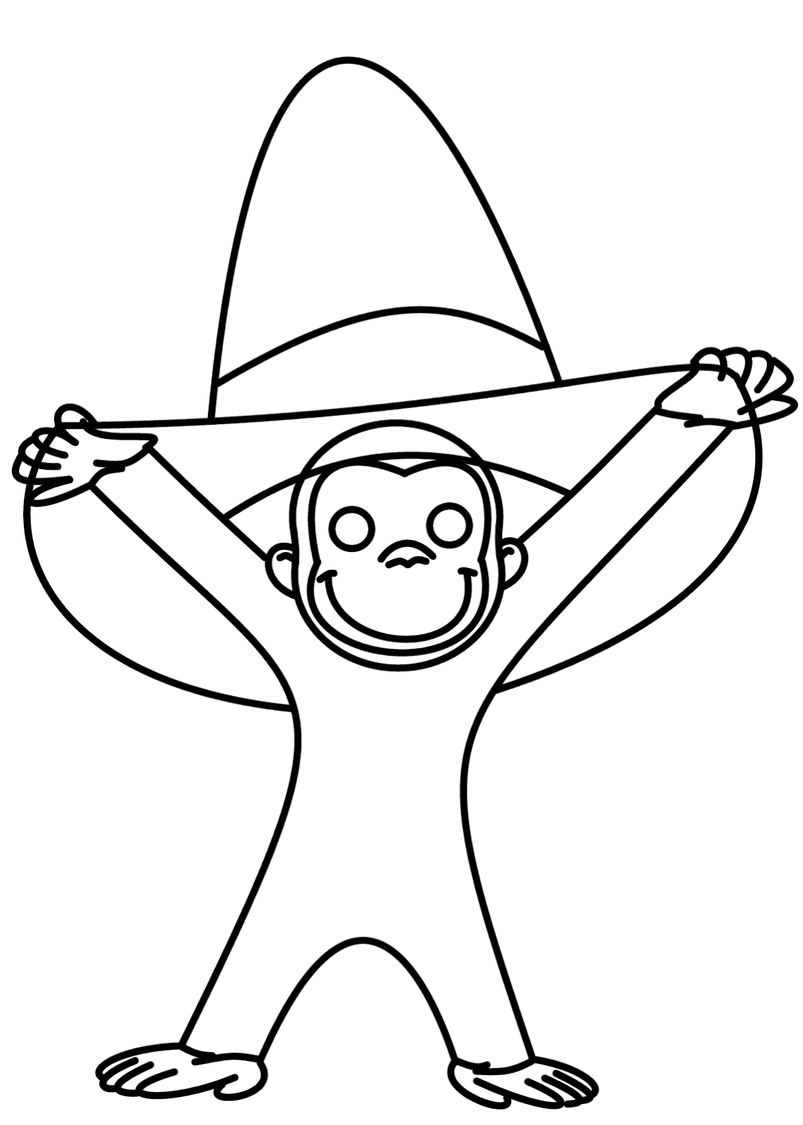 1142x1600 How To Draw Cartoons Curious George