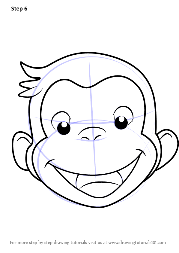 597x842 Learn How To Draw Curious George Face