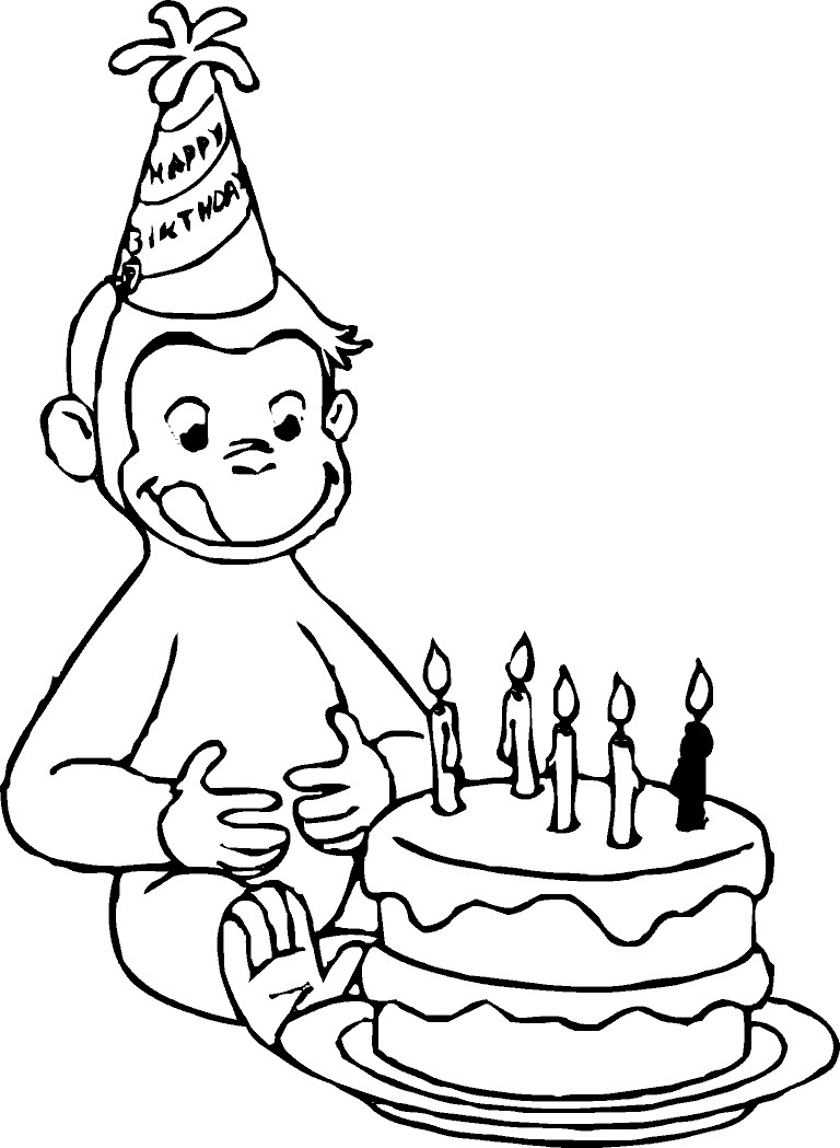 768x1049 Curious George Printable Coloring Pages Colouring To Print