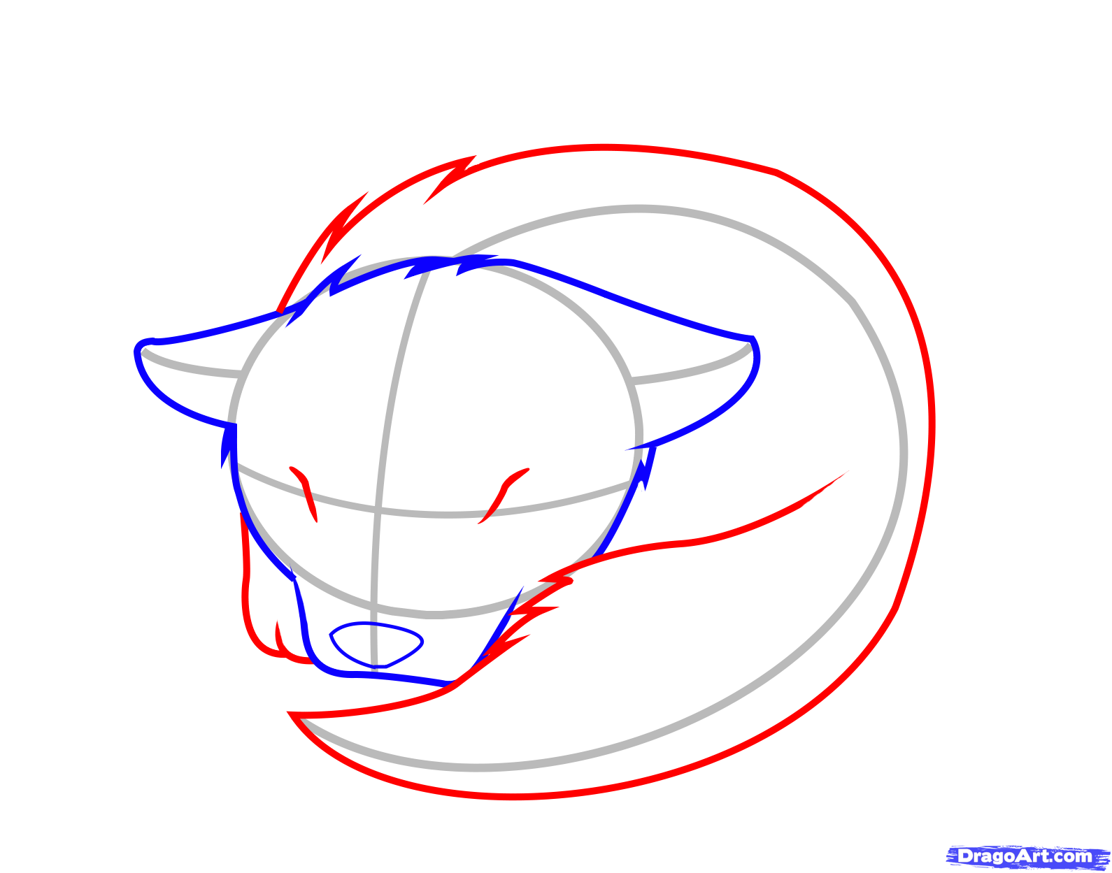 1590x1249 How To Draw A Sleeping Wolf Pup, Step