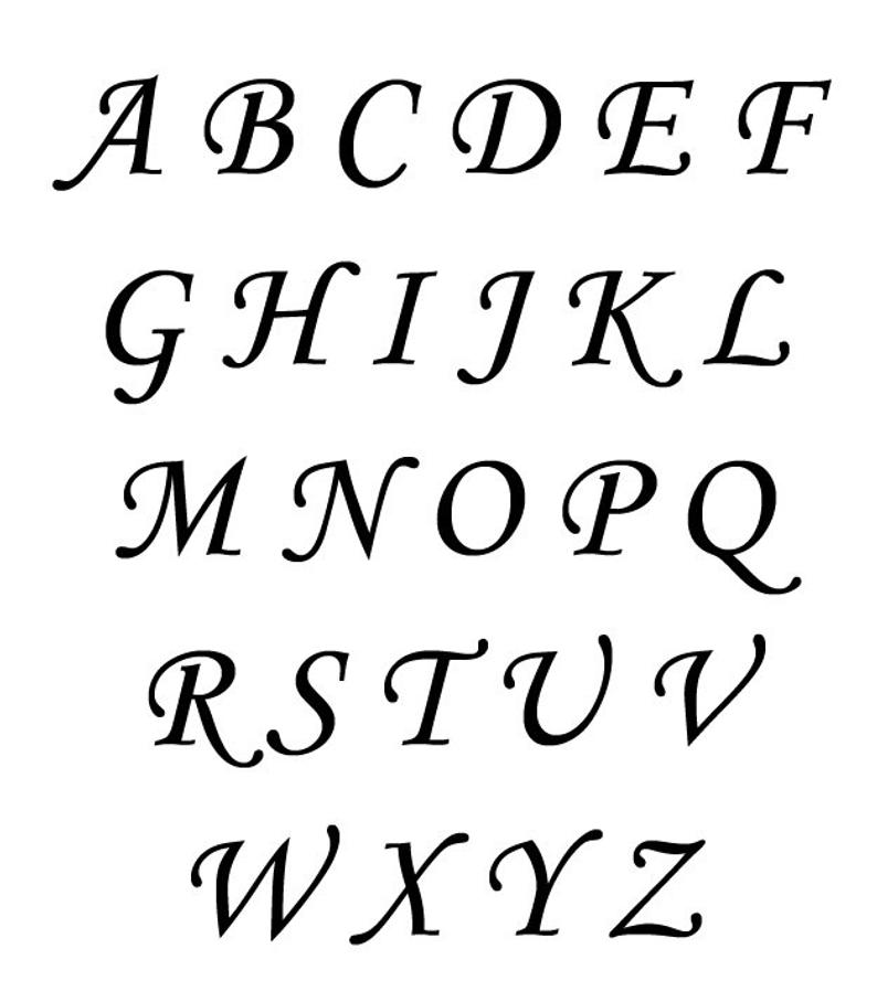 794x908 cursive letter vinyl decal cursive letter initial mailbox etsy