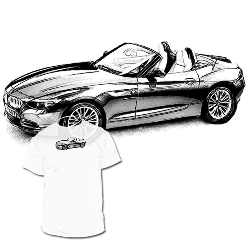 794x794 Bmw Z Drawing T Shirt Your Car Drawing Is Availabl Etsy