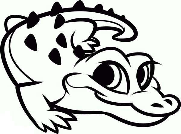 600x444 Cute Alligator Drawing Lovely Of Coloring Pages Pictures