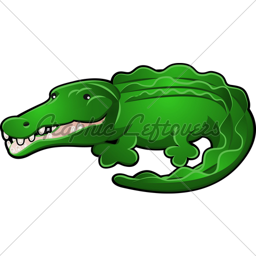 500x500 Cute Crocodile Drawing