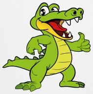 190x191 Funny Cool Cute Crocodile Alligator Reptile