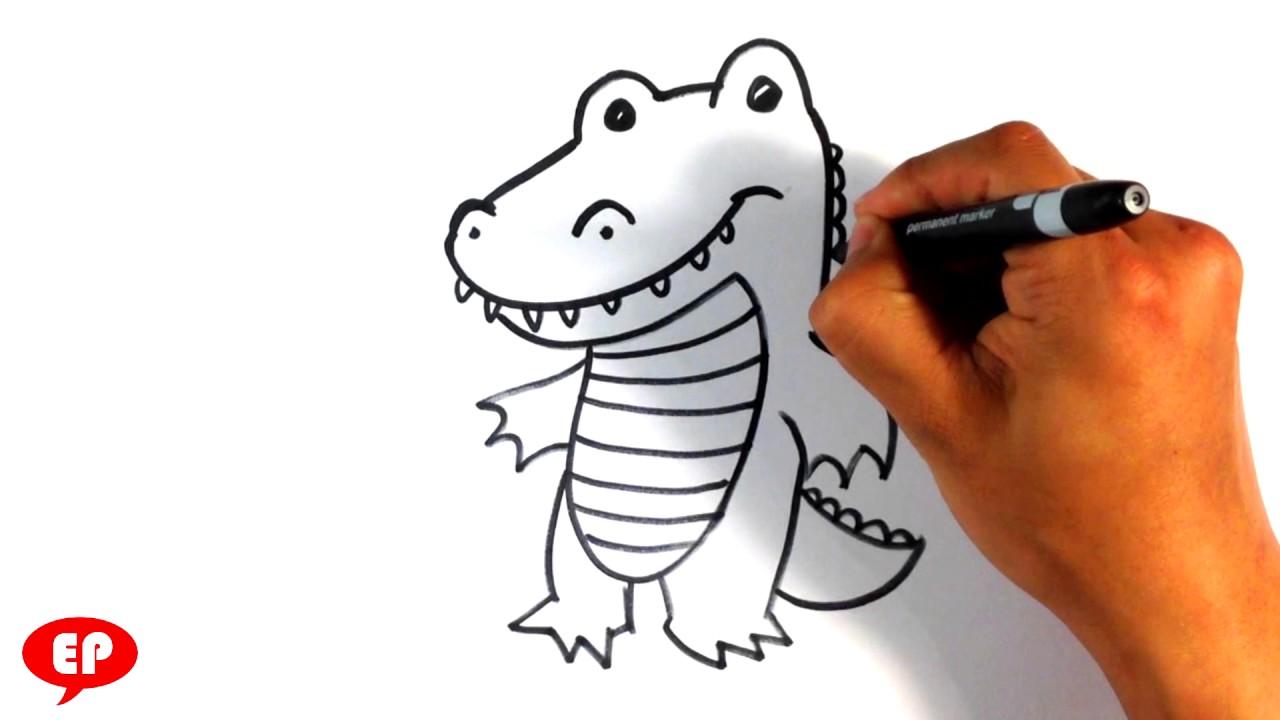 1280x720 How To Draw A Crocodile