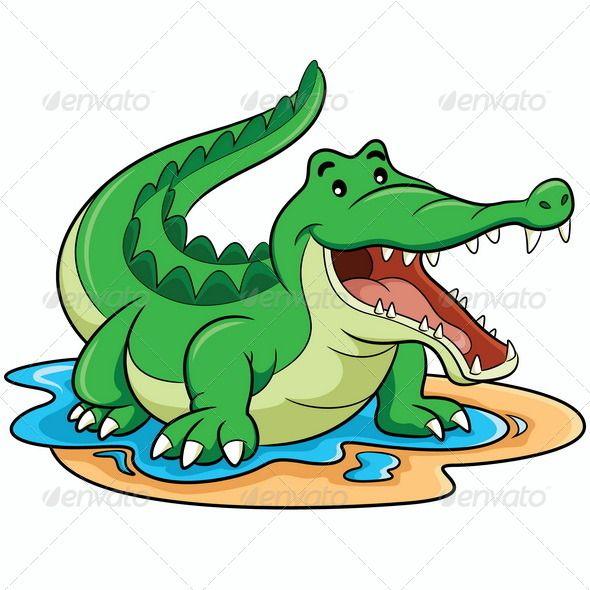 590x590 Illustration Of Cute Cartoon Crocodile Flyer Template Layout