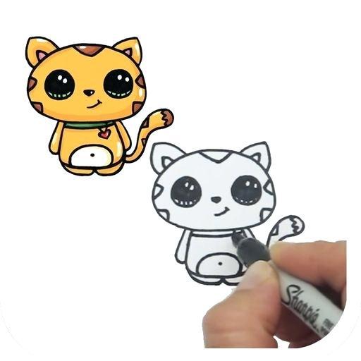 512x512 draw cute animals cartoon animals drawing draw so cute animals