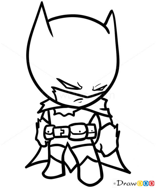 665x801 How To Draw Batman, Chibi