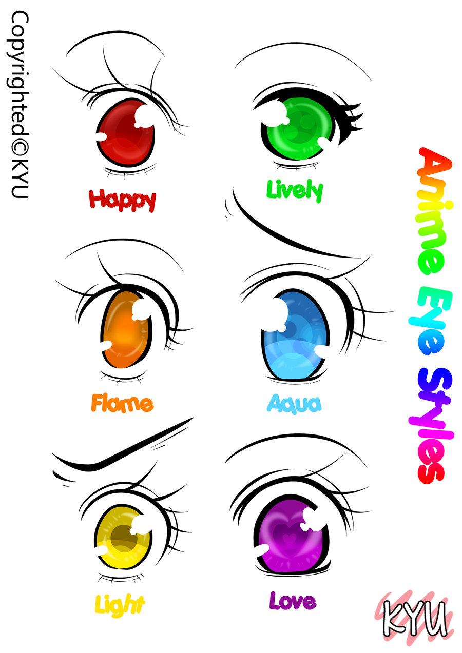 Cute Anime Eyes Drawing