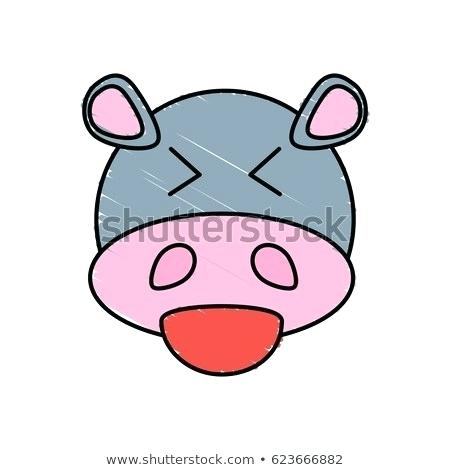 450x470 Cute Hippo Drawing Hippo Drawing Cute Baby Hippo Drawing