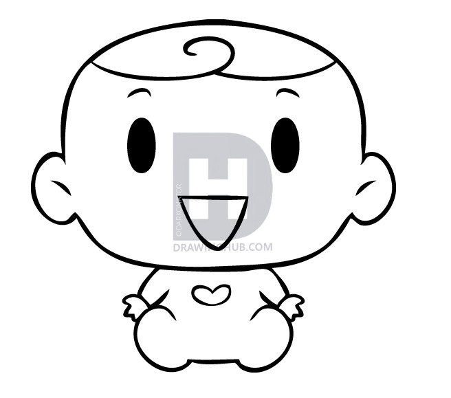 656x579 Baby Drawing Cute For Free Download