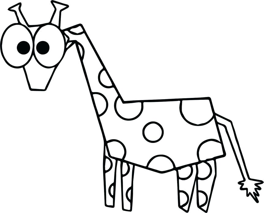 863x696 Funny Giraffe Coloring Pages Cute Baby Drawing At Free