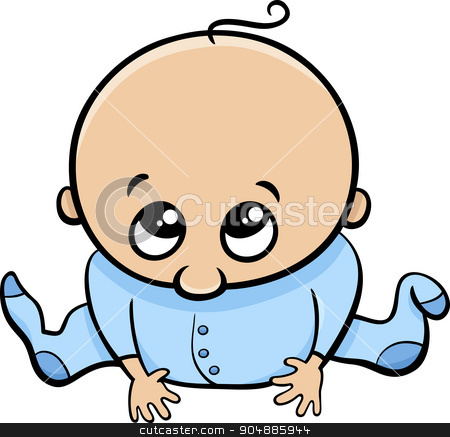 450x437 Cute Baby Boy Cartoon Stock Vector