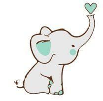 Cute Baby Elephant Cartoon Drawing
