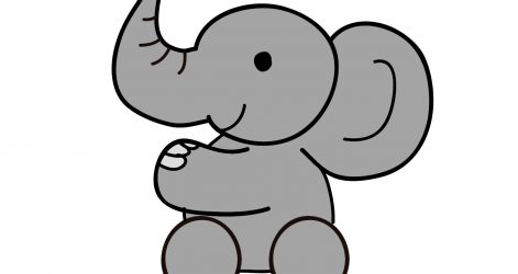 471x250 Cute Baby Elephant Drawing And Easy Little Line Tutorial