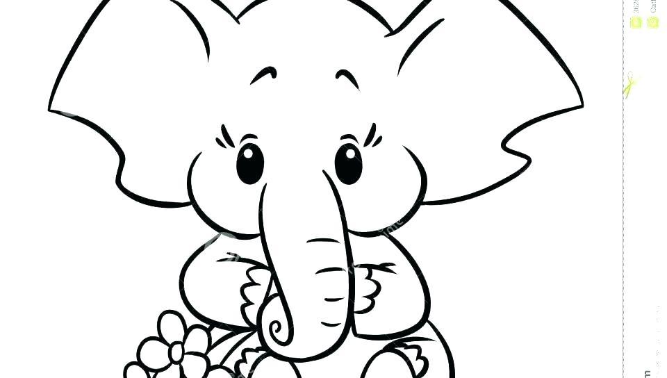 960x544 cute elephant drawing cute baby elephant drawing at cute elephant