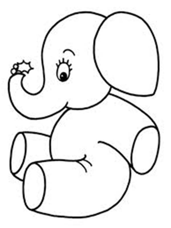 600x801 Cute Little Elephant Coloring