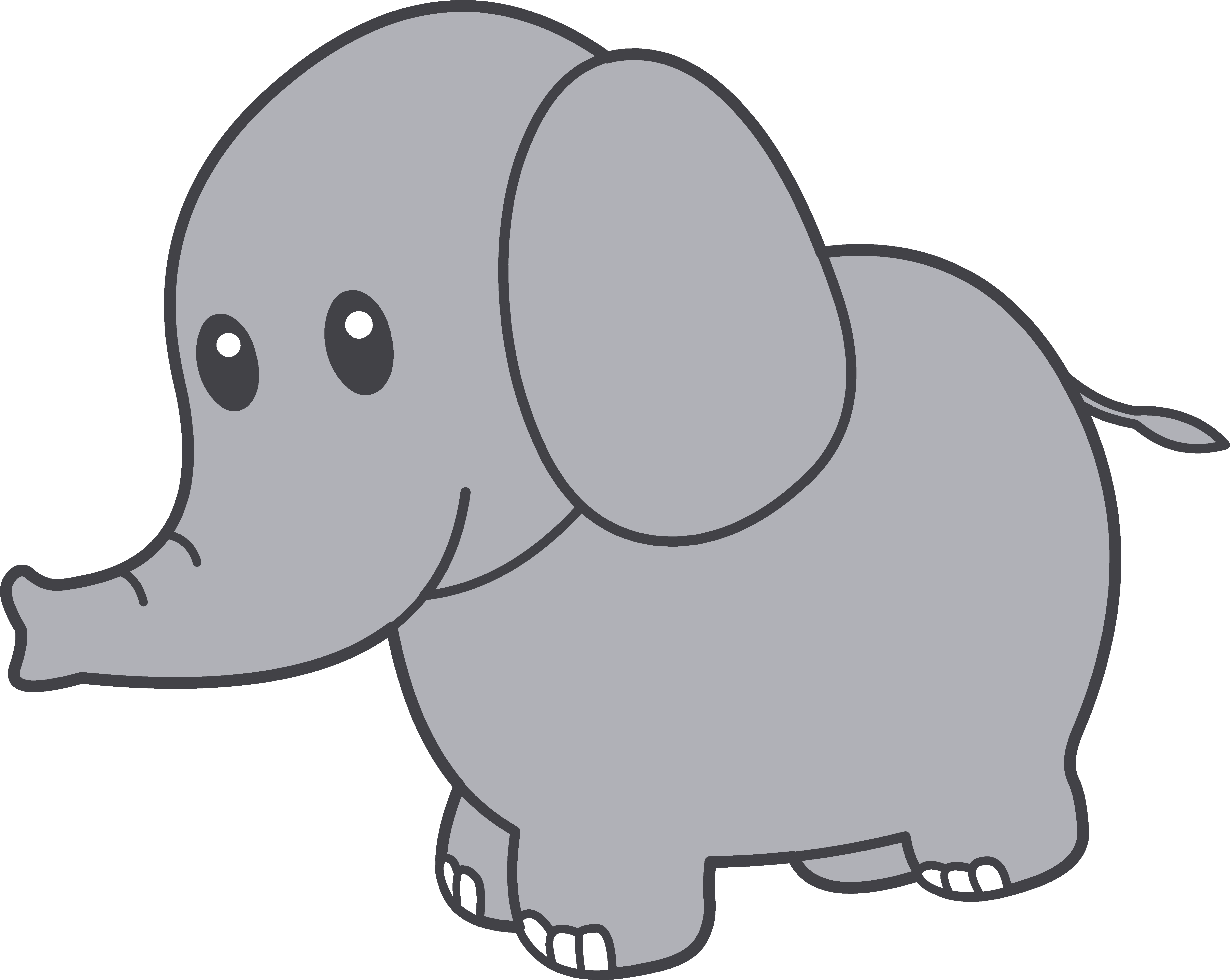 6062x4830 Drawing Elephants Cute Transparent Png Clipart Free Download