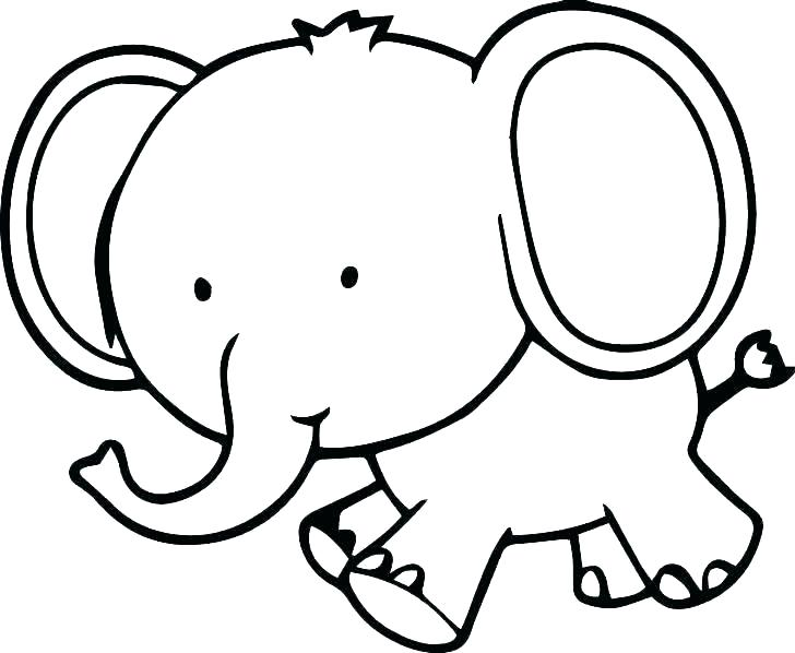 728x598 Elephant Coloring Pictures New Cute Baby Elephant Coloring Pages