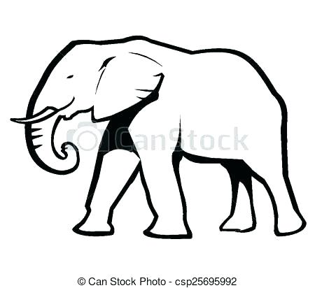 450x412 Elephant Outline Drawing Elephant Outline Collection Of Free