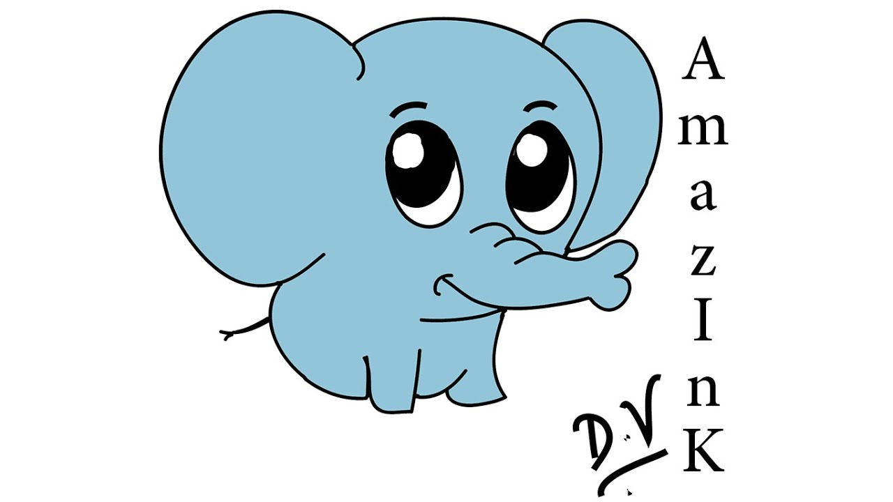 1280x720 Learn How To Draw A Baby Elephant