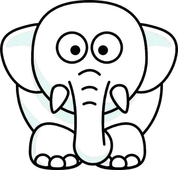 700x669 outline of elephant cute elephant template baby elephant outline
