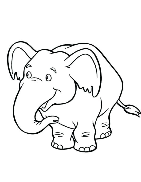 600x775 Cute Baby Elephant Coloring Pages