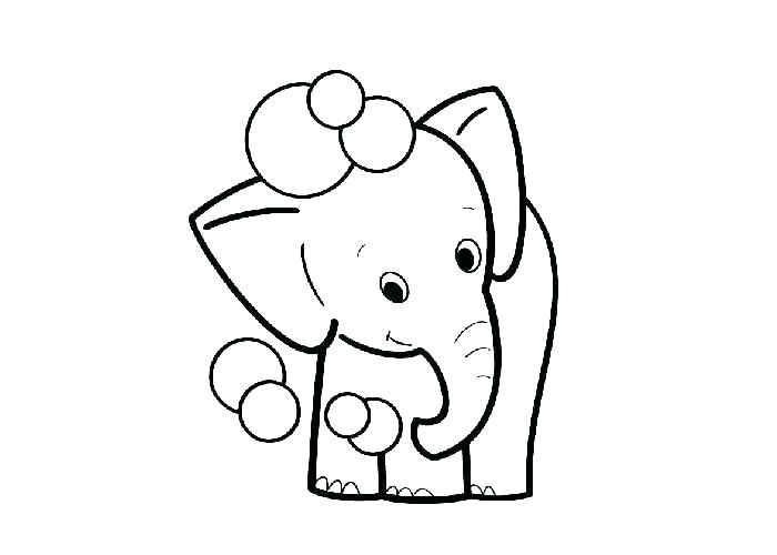 700x500 Cute Baby Elephant Coloring