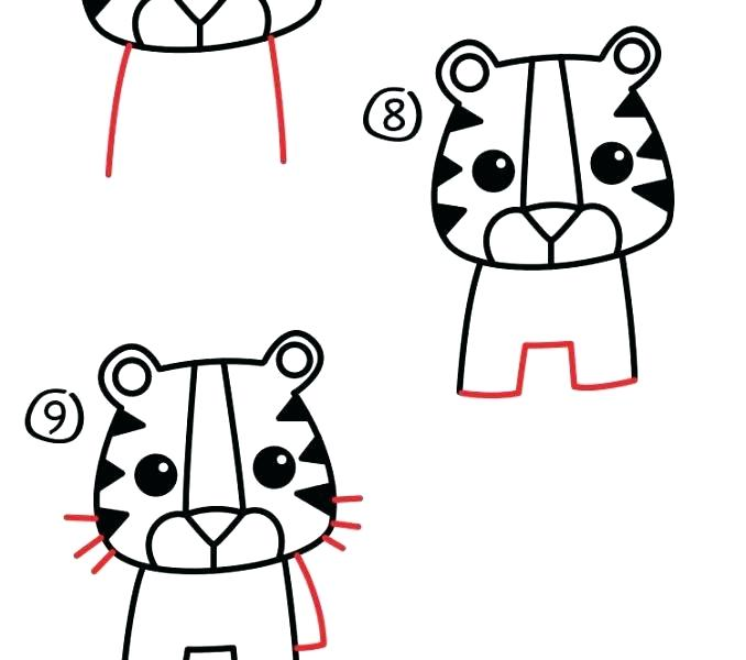 678x600 How To Draw A Cute Tiger Rt Lessons Fun How To Draw A Cute Tiger