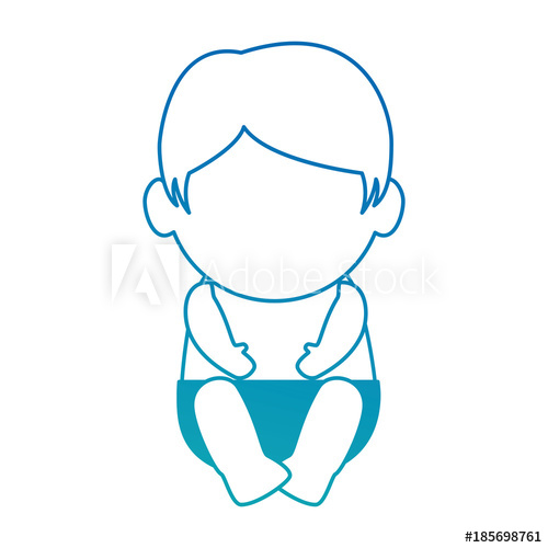 500x500 Cute Baby Face Avatar Character Vector Illustration Design
