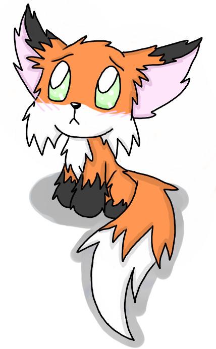 428x692 Cute Anime Fox Drawings