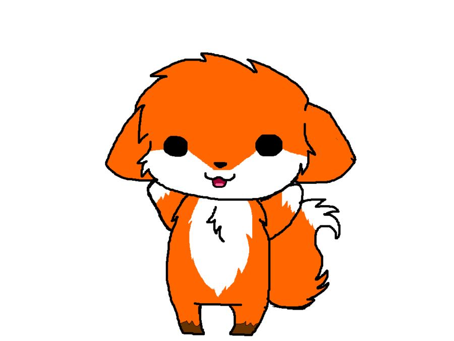 900x675 Cute Baby Fox Drawing