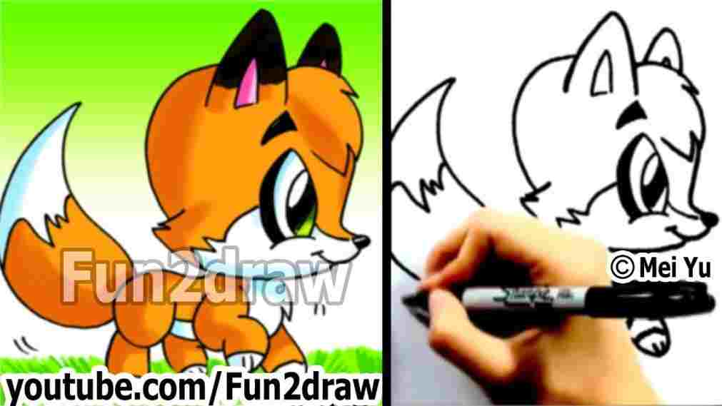 1011x569 How How To Draw A Cute Baby Fox To Draw