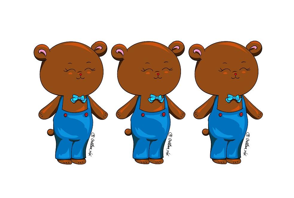 983x661 Cute Bear Drawing